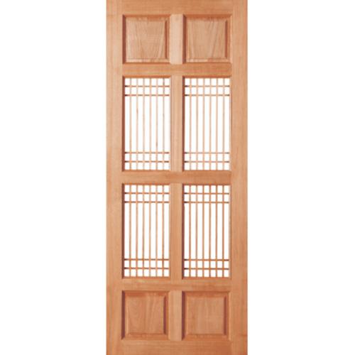 BEST ประตูกระจกไม้สยาแดง 80x205 cm. GS-20
