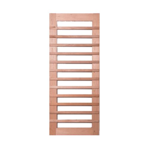 BEST ประตูไม้สยาแดงกระจกใส ขนาด 130x240cm. GS-59