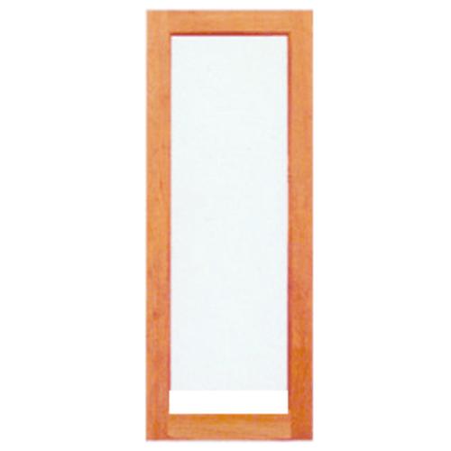 BEST ประตูไม้สยาแดง ขนาด 50x220 cm. GS-69 กระจกใส