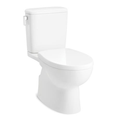 KOHLER สุขภัณฑ์แบบสองชิ้น ใช้น้ำ 3/4.5 ลิตร แพททิโอ พร้อมฝารองนั่งแบบกันกระแทก K-22586X-S-0 ขาว