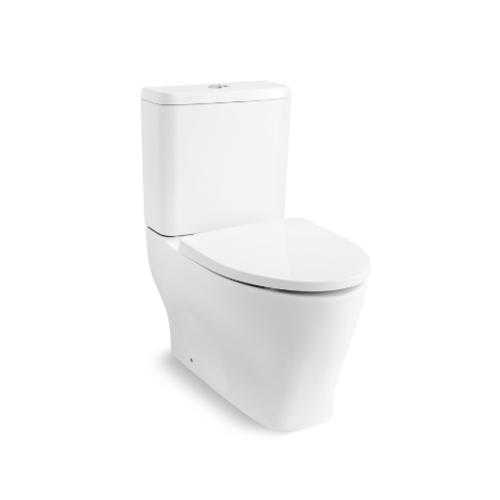 KOHLER สุขภัณฑ์แบบสองชิ้น ใช้น้ำ 3/4.8 ลิตร แฟมิลี่ พร้อมฝารองนั่งเฟรนช์เคิร์ฟแบบกันกระแทก K-25737X-C-0 ขาว