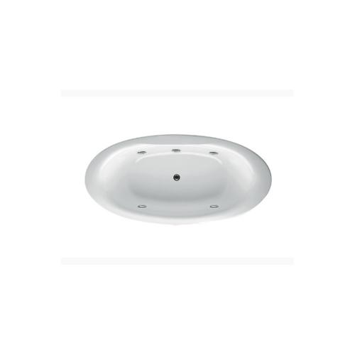 KOHLER  อ่างอาบน้ำอะครีลิคระบบน้ำวน 5 หัวเจ็ต รุ่น เพลสคิวล์  K-6047X-K-0 KARAT  ขาว