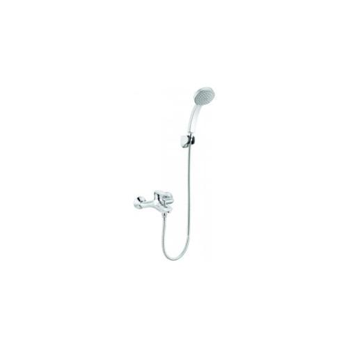 KOHLER ก๊อกผสมลงอ่างอาบน้ำและยืนอาบแบบติดผนังพร้อมฝักบัวสายอ่อน K-99460T-4-CP KUMIN สีโครเมี่ยม