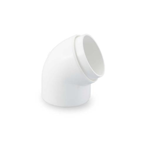 SCG ข้องอรางน้ำฝน 30 องศา (กลม) DELUXE&SMART สีขาว