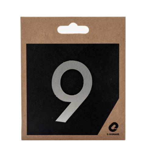 C Signage ป้ายอลูมิเนียม  (ตัวเลข 9 ) (แบบด้าน)  CSLS-A 1009