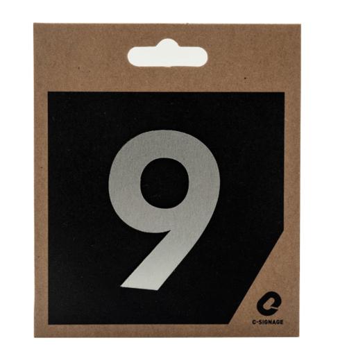 C Signage ป้ายอลูมิเนียม(ตัวเลข 9) (ด้าน)  CSLS-A 2009