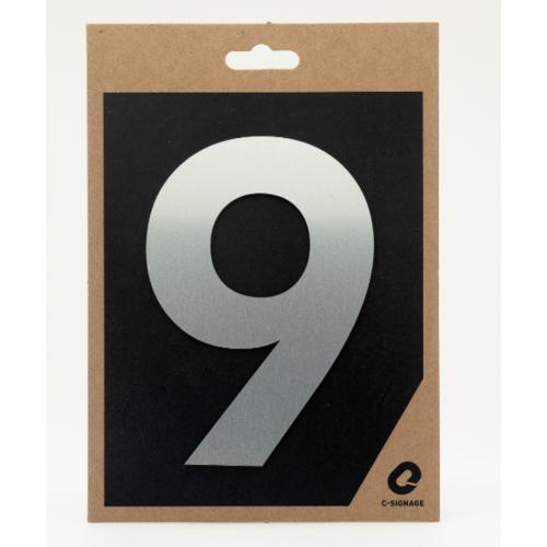 C Signage ป้ายอลูมิเนียม  (ตัวเลข 9)แบบด้าน  A1009