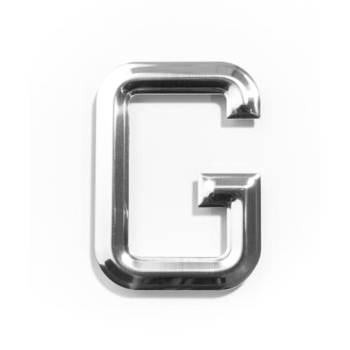 Cityart nameplate อักษร G SGB CHROME 6101 สีเงินเงา