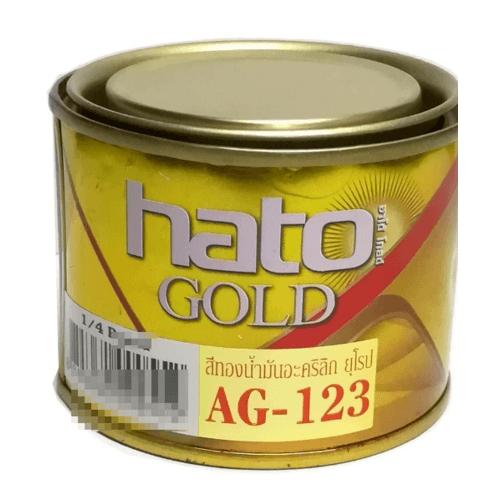 HATO สีทองอะครีลิค(ทองยุโรป)AG-123 1/4กล. AG-123