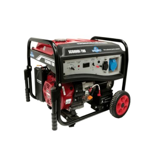 WELPRO เครื่องกำเนิดไฟฟ้า  SC6000E-THD สีแดง