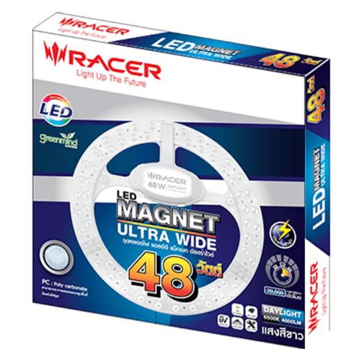 Racer ชุดหลอดไฟแอลอีดี แม็กเนท 48 วัตต์ อัลตร้าไวด์ (ULTRA WIDE) ขาว
