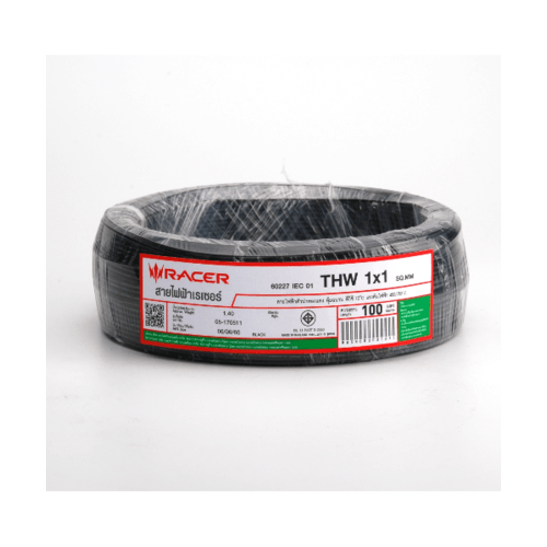 RACER สายไฟ IEC05 1x1 100 M ดำ