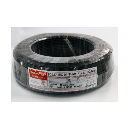 RACER สายไฟ IEC01 THW 1x4 100M ดำ 13201CA01210053