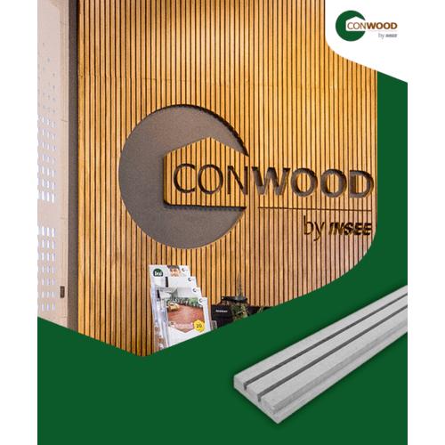 CONWOOD ไม้ตกแต่งผนังคอนวูด หน้า 1 นิ้ว รุ่นสติ๊ก ลายเสี้ยน สีธรรมชาติ