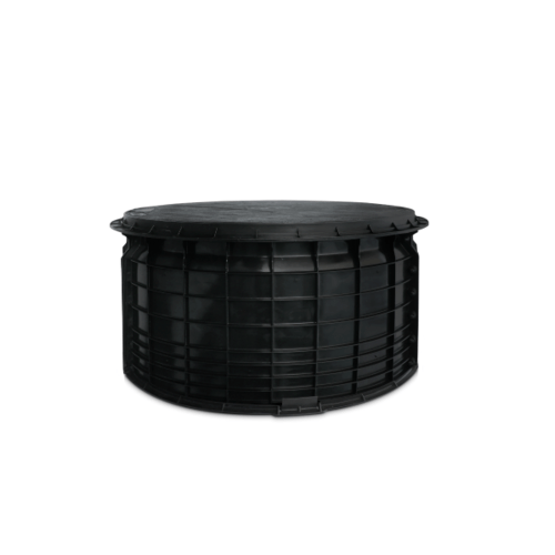 DOS ปลอกคอถังบำบัด 02390022 สีดำ