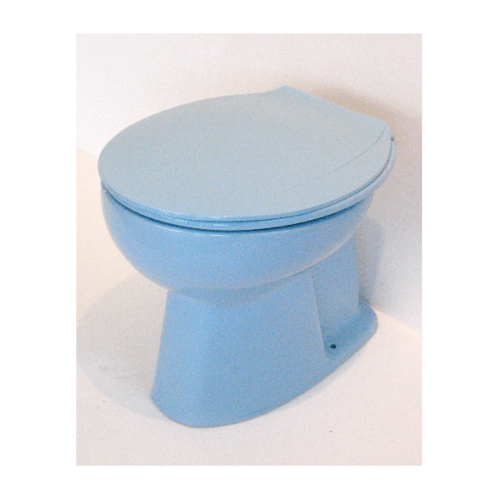สุขภัณฑ์นั่งราบราดน้ำ  EC-007 blue ฟ้า