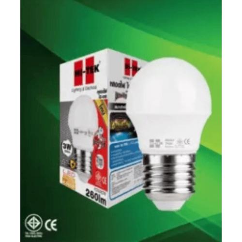 HI-TEK หลอด LED มวยไทย SERIES ขั้วเกลียว E27 3W แสงนวล HLLM27003W