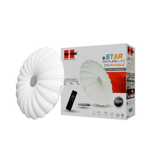 HI-TEK  ชุดโคม LED เพดานกลม 35W STAR  เปลี่ยน3 แสง หรี่ได้ พร้อมรีโมท  HFIL335DCW