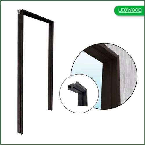 LEOWOOD วงกบประตูไม้สังเคราะห์ Leo Frame Premium + ขนาด  80x200ซม. OAK