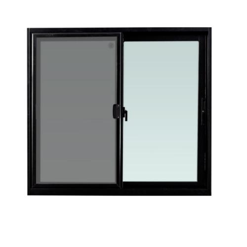 TRUSTAND (EZY WINDOW)  หน้าต่างอะลูมิเนียมบานเลื่อน SS W2 ขนาด 1200x1300มม.  พร้อมมุ้งลวด Enzo สีดำ