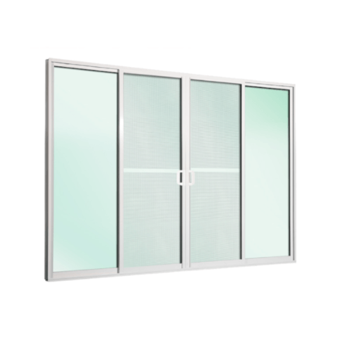 TRUSTAND (EZY WINDOW)  ประตูอะลูมิเนียมบานเลื่อน ขนาด 270x233.5ซม.  พร้อมมุ้ง SSSS ED-SSSS2327  สีขาว