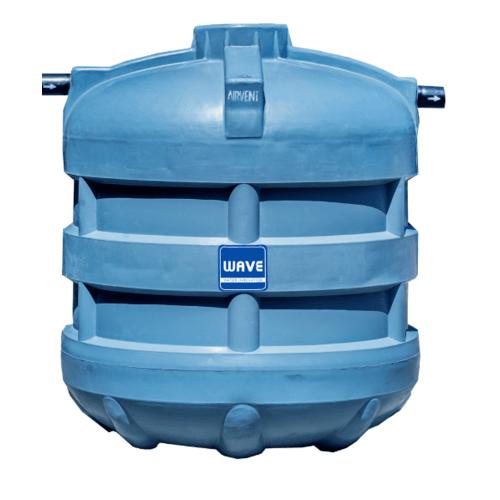 WAVE ถังบำบัดน้ำเสียชนิดเติมอากาศ WFF-5000 ลิตร สีเทา