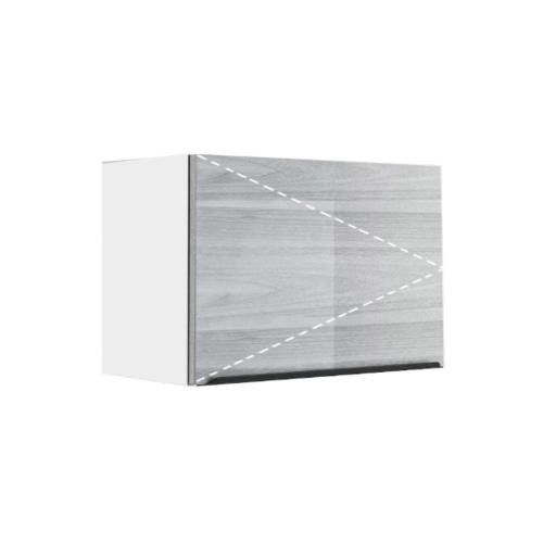 ตู้แขวนเดี่ยวบานเปิด GLOSSY KEM-GLR-W-FT-4060X-CW สีคริสตัลไวท์ KITZCHO