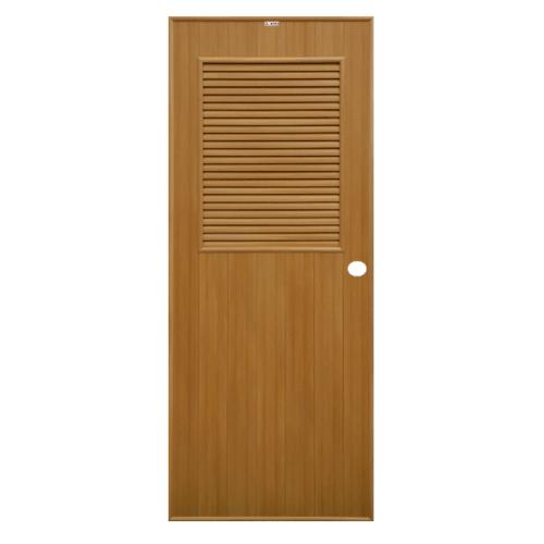CHAMP ประตู ขนาด 70x200 ซม.  P3 สีลายไม้สักทอง เจาะ