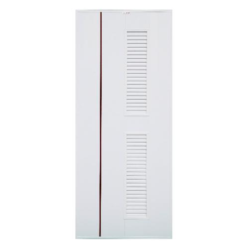 CHAMP ประตู ขนาด (70X180) ซม.  idea uPVC-7 สีขาว/โอ๊คแดง (ไม่เจาะ)