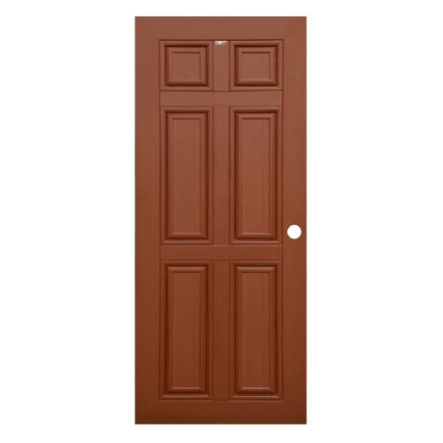 CHAMP ประตู WPC 6ฟัก  ขนาด70cm.x200cm. สีโอ๊คแดง เจาะ MW1