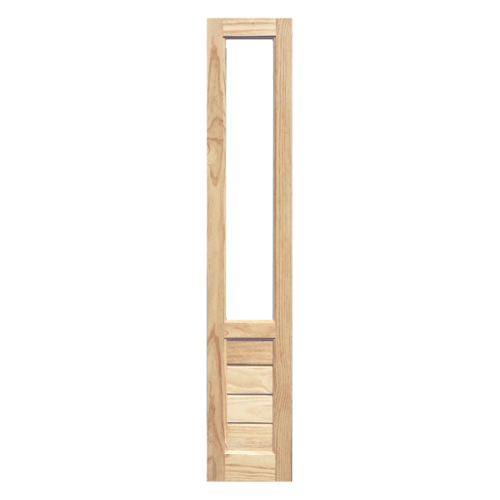 WINDOOR ประตูไม้สนนิวซีแลนด์พร้อมกระจก ขนาด 45x200ซม.  S/L 111