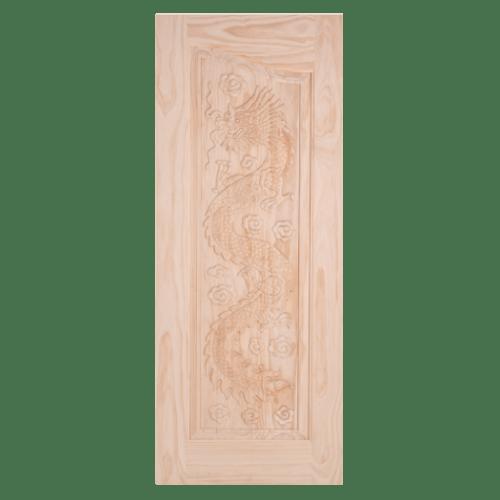 WINDOOR ประตูไม้สนนิวซีแลนด์ ขนาด 90x210 ซม. LA 444  ไม้ธรรมชาติ