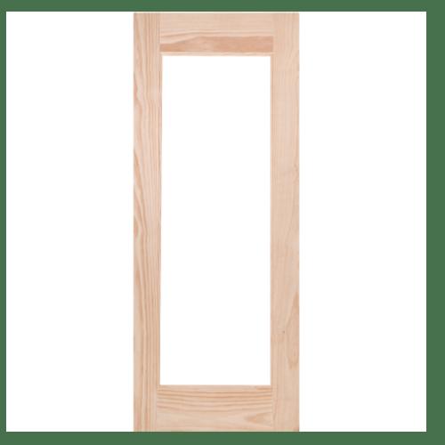 WINDOOR ประตูไม้สนนิวซีแลนด์ ขนาด 80x200ซม. (ไม่ใส่กระจก) S.PRICE 30 ไม้ธรรมชาติ