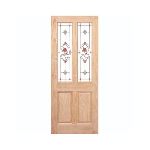 WINDOOR ประตู+กระจก สนนิวซีแลนด์ ขนาด 80x200ซม. MJ-07
