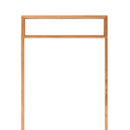 WINDOOR วงกบประตู   เต็งแดง ขนาด180x200 2x4นิ้ว COM 14 สีน้ำตาล