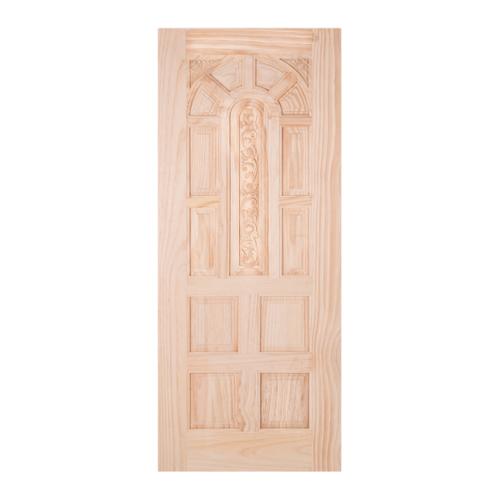 WINDOOR ประตูสลักลายไม้สนนิวซีแลนด์ ขนาด 100x200ซม. L 134 สีเหลือง