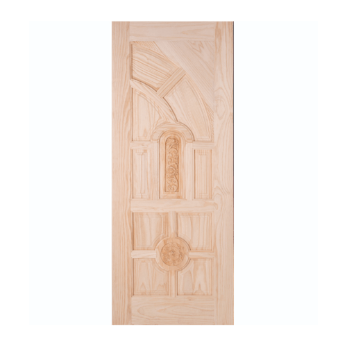 WINDOOR ประตูสลักลายไม้สนนิวซีแลนด์ ขนาด 100x200ซม.  L 555