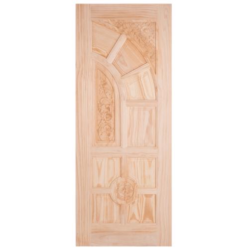 WINDOOR ประตูสลักลายไม้สนNz ขนาด 90x200 ซม. LA-666