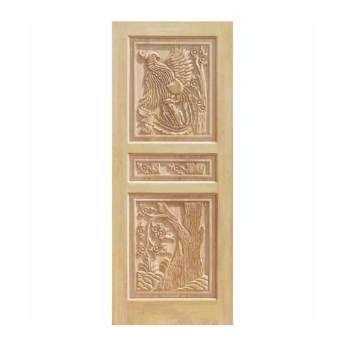 WINDOOR ประตูสลักลาย สนNz  ขนาด 90x200 cm. LA 100