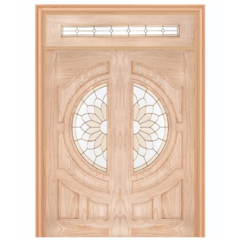 WINDOOR ประตู+กระจก  Com14สนนิวซีแลนด์ ขนาด 80x200ซม. SUN FLOWER สีเหลือง