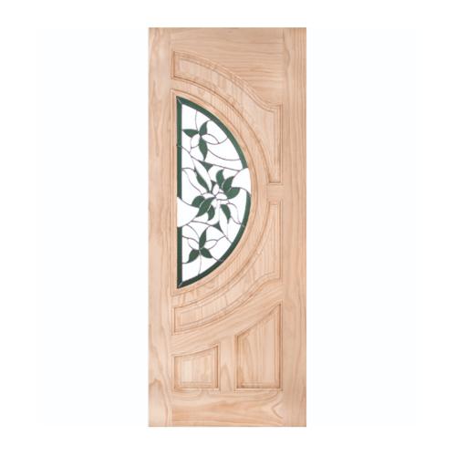 WINDOOR ประตู+กระจก  สนนิวซีแลนด์ ขนาด 100x200ซม. GLARING GREEN