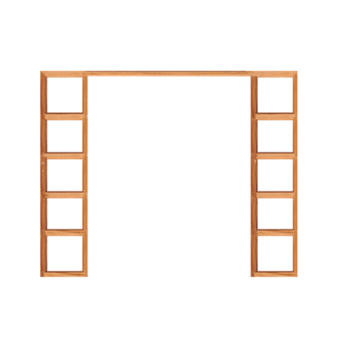 WINDOOR วงกบประตู Com 10 เต็งแดง ขนาด 180x200 ซม.  2x4  นิ้ว