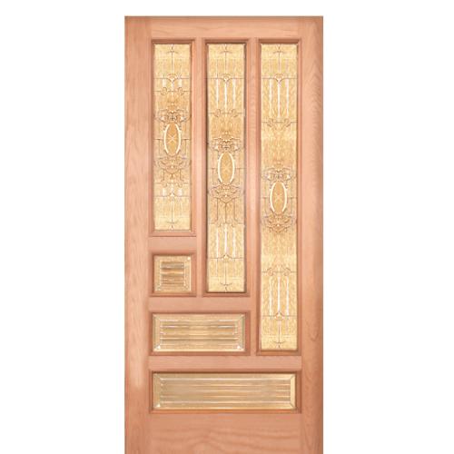 WINDOOR ประตู+กระจก สัก ขนาด 100x200 ซม. VENICE