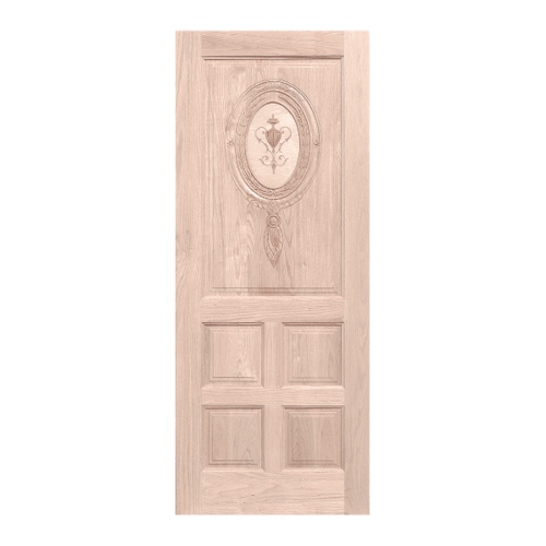 WINDOOR ประตูลวดลาย สนNz ขนาด 100x200 ซม. INLAY-W6