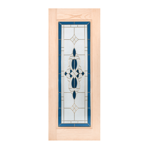 WINDOOR ประตูกระจกไม้สน ขนาด  90x200 cm.  CCA  สีเหลือง