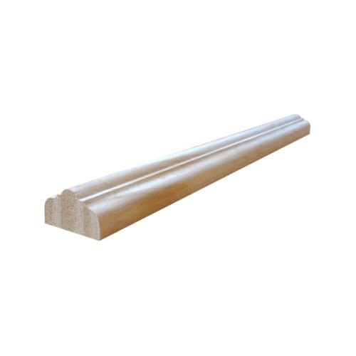 WINDOOR คิ้วบัวปิดบังใบเสริมบารมี สนNz  ขนาด 1นิ้ว x1นิ้ว x300 cm. สีเหลือง