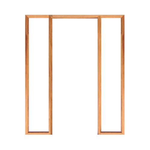 WINDOOR วงกบประตู  เต็งแดง ขนาด 90x200 cm.2x4นิ้ว COM 3 สีน้ำตาล