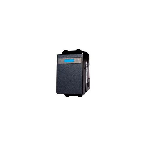 CHANG สวิทช์ทางเดียว (ปิดมีไฟ) ขนาดเล็ก CH-501CL-BK สีดำ-ช้าง CH-501CL-BK Y-Series Metallic สีดำ