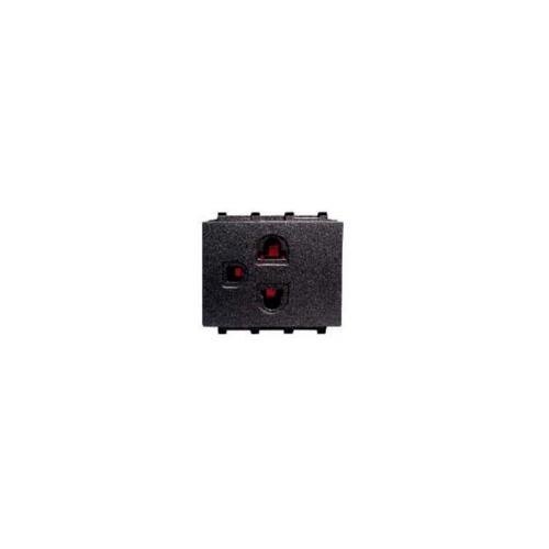 CHANG ปลั๊กกราวด์เดี่ยวเสียบขากลมแบน มีกราวด์ PCH-903C-BK สีดำ(เม็ททัลลิค)-ช้าง PCH-903C-BK Y-Series Metallic สีดำ