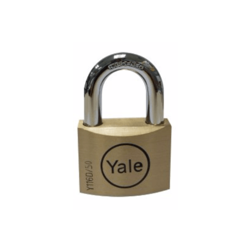 YALE กุญแจคล้องสายยูแบบมน ห่วงสั้น  45 มม.  Y116D/45/127/1 ทองเหลือง